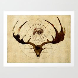 Anteocularis III Art Print