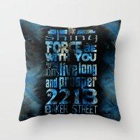 fandom Throw Pillows featuring Fandom Motto by Tracey Gurney