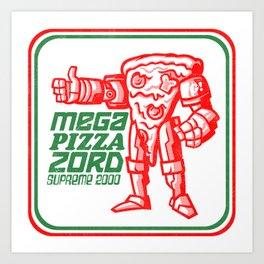 MEGA PIZZA ZORD SUPREME 2000 Art Print