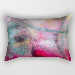 Amaranth Pink Rectangular Pillow
