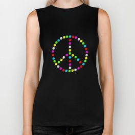 Peace cats in colour Biker Tank