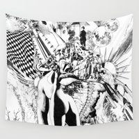 et Wall Tapestries featuring SINE IRA ET TIMOR by Alberto Matsumura