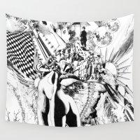 et Wall Tapestries featuring SINE IRA ET TIMOR by Alberto Matsumura
