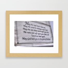 Irish Blessing Framed Art Print
