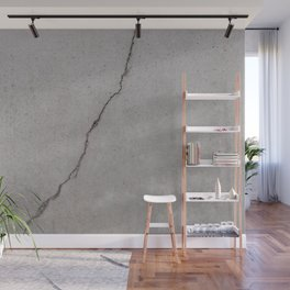 cracked concrete texture - cement stone Wall Mural