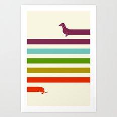 (Very) Long Dachshund Art Print