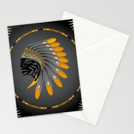 Honor and Strength Yellow Stationery Cards