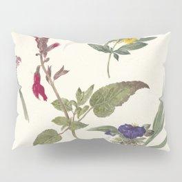 Pieter Ernst Hendrik Praetorius - Studies of wild flowers (1837) Pillow Sham