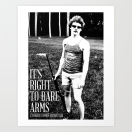 Right to Bare Arms Art Print