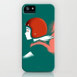 Moped Girl iPhone Case
