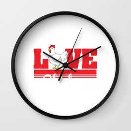Are you Chicken Lover? Here's a cute t-shirt design with a cute illustration of a  Hen Chick Rooster Wall Clock