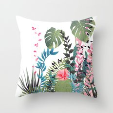 tropical composition Throw Pillow