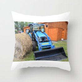 New Holland Workmaster 75 Tractor 1 Throw Pillow