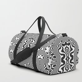 Black And White Optical Illusion Graphic Duffle Bag
