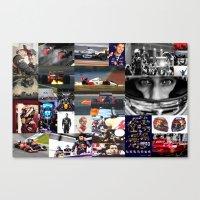formula 1 Canvas Prints featuring Formula 1 Collage by Rassva
