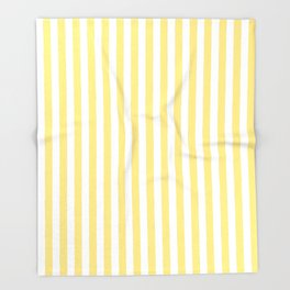 Modern geometrical baby yellow white stripes pattern Throw Blanket
