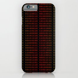 Binary Green and Red With Spaces iPhone Case