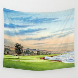 Pebble Beach Golf Course 18th Hole Wall Tapestry