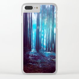 Forest Light 03 Clear iPhone Case