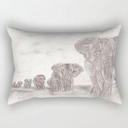 Elephant Patrol Rectangular Pillow