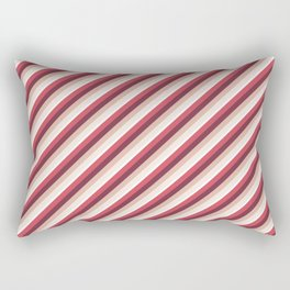 Pomade Tones Inclined Stripes Rectangular Pillow