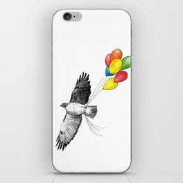Hawk on his way to a party iPhone Skin