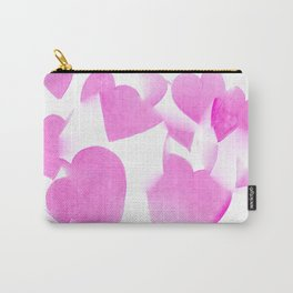 Blended Pink Hearts Carry-All Pouch