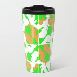 Graphic Floral Pattern Travel Mug