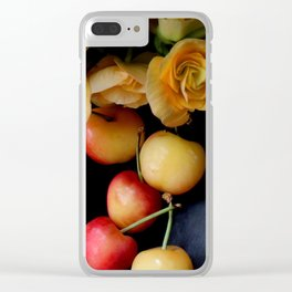 Cherry Gold Clear iPhone Case