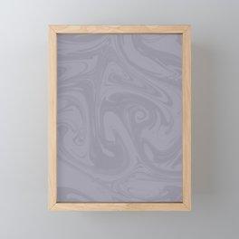 Pantone Lilac Gray Abstract Fluid Art Swirl Pattern Framed Mini Art Print