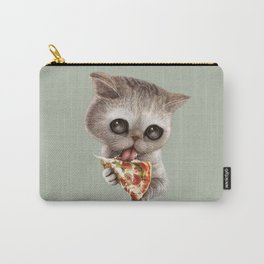 CAT LOVES PIZZA Carry-All Pouch