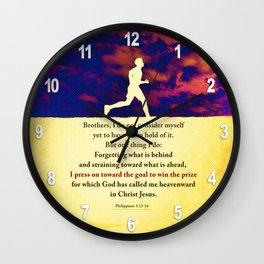 Press On! Wall Clock