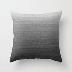 Black and White Ink Gradient  Throw Pillow