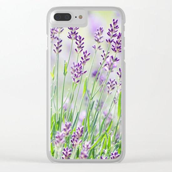 Lavender in summer garden Clear iPhone Case