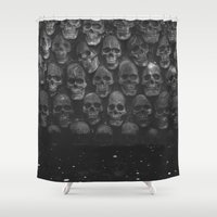 skulls Shower Curtains featuring SKULLS by Danielle Fedorshik