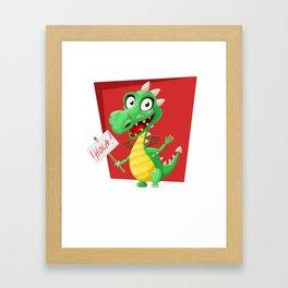 Dragon Says Hola Framed Art Print