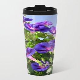 Deep Purple Morning Glory Climbing Plant Travel Mug