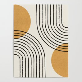 Sun Arch Double - Gold Poster