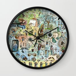 Elvis In A Skillet and the Ongoing Movie In My Head Wall Clock