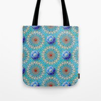 matrix Tote Bags featuring Empyrean Matrix by Peter Gross