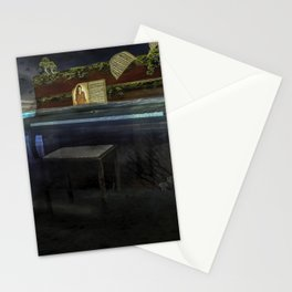 Sunken Piano Stationery Cards