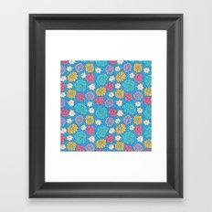 RocoFloral (blueberry) Framed Art Print