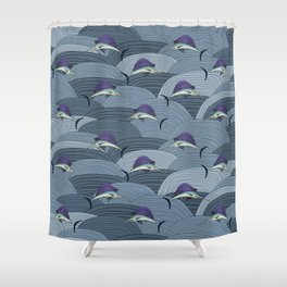 Swordfish Espadon | Pattern Art Shower Curtain