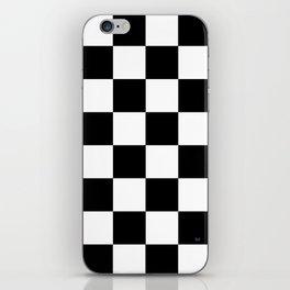 Checker - Black & White iPhone Skin