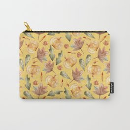 Pumpkins, candles, maple leaves, oak leaves. Halloween Carry-All Pouch