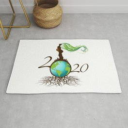 Mother Earth 2020 - White Rug