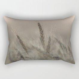 Morning Dew on Wheat Field Rectangular Pillow