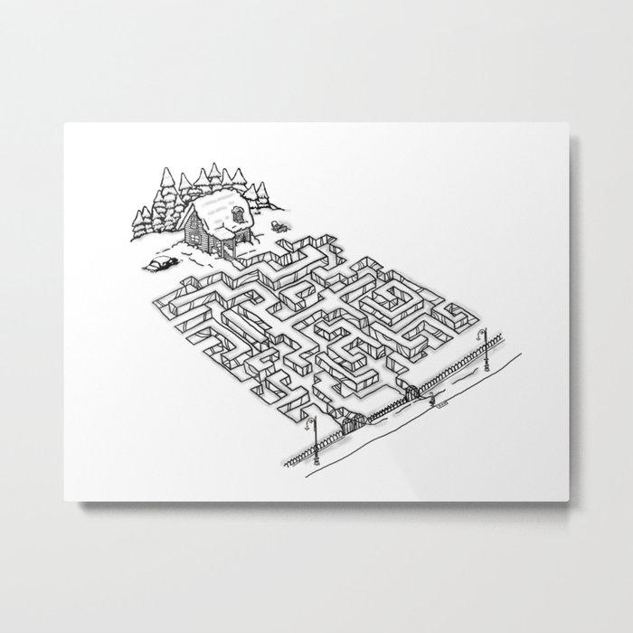Antisocial Metal Print