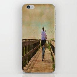 Sunny Day Bike Ride iPhone Skin