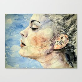 Swedish Girl Profile Canvas Print